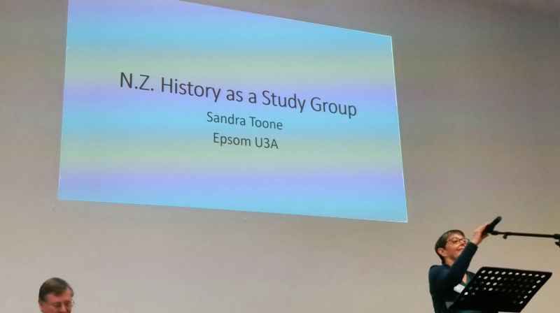 "Sandra Toon - Epson U3A ""NZ History as a Study Group"""